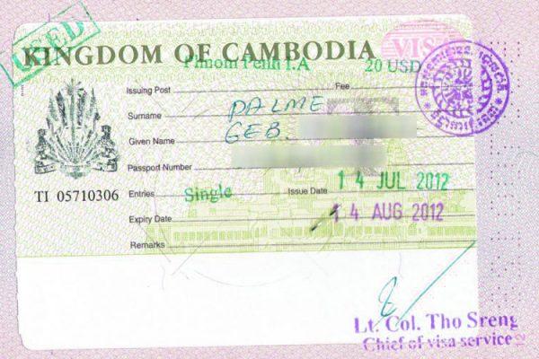 Kamboçya Vizesi Nasıl Alınır ?